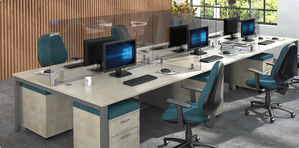 NAOS supply range of solutions that help limit the spread of airborne droplets including workspace dividers and extending dividers